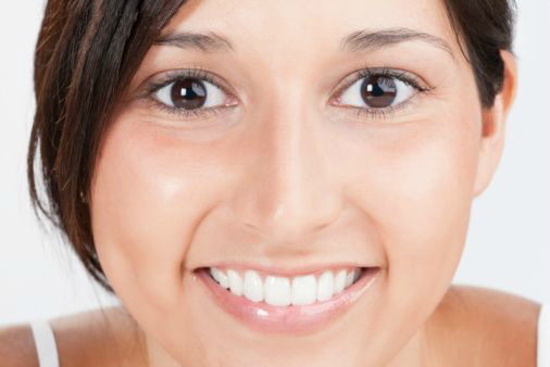 Women with professional whitened teeth